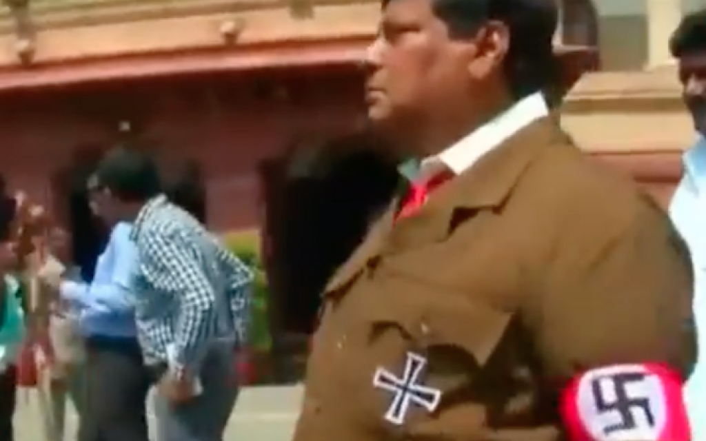Indian MP dresses up as Adolf Hitler in parliament to protest against PM