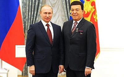 The title of Hero of Labour of the Russian Federation is awarded to Iosif Kobzon by Vladimir Putin in 2016
