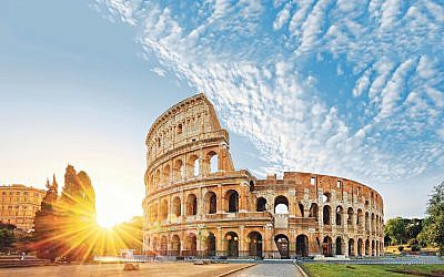 The splendid Colosseum in the centre of Rome