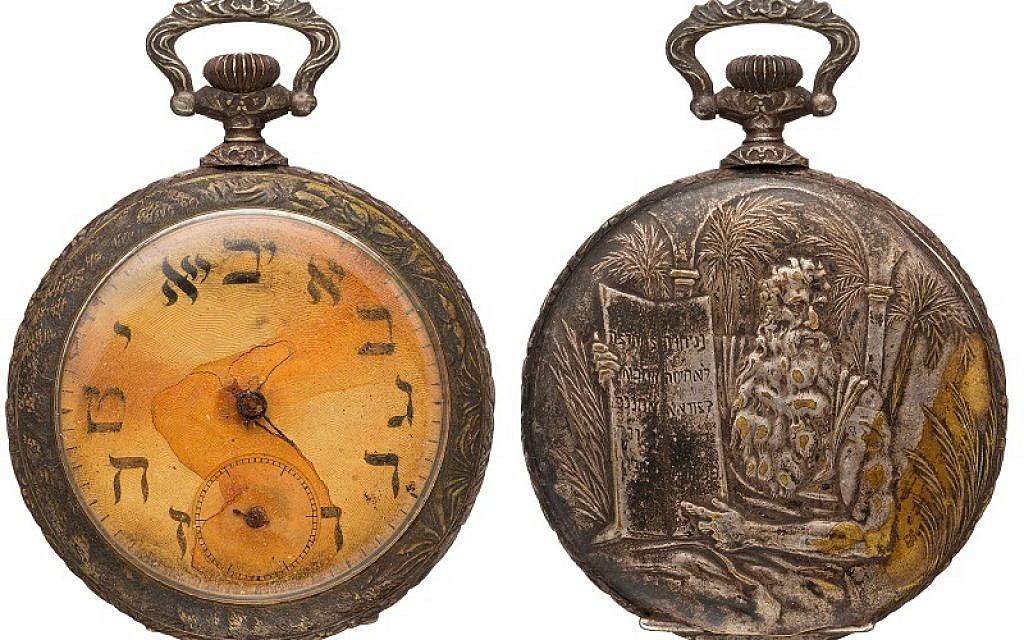 This silver pocket watch belonging to Sinai Kantor, who lost his life in the Titanic disaster, could fetch more than £15,000 at auction. Credit: Heritage Auctions