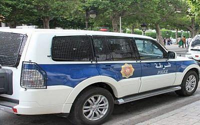 A Tunisian police car