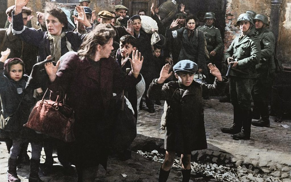 Brazilian artist Marina Amaral has laid bare the horror of the Warsaw Ghetto with this colourised version of the well-known photograph