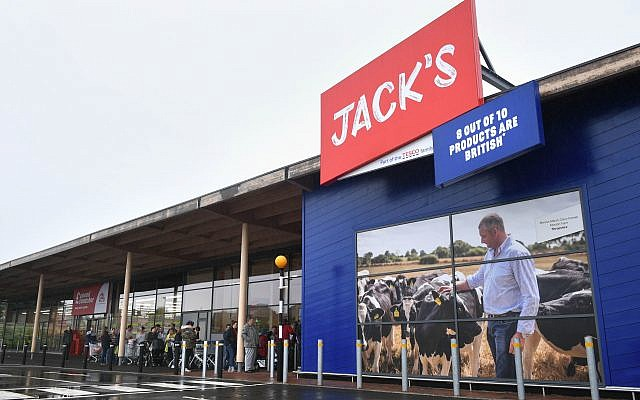 People queuing for the opening of Tesco's new Jack's store. Photo credit: Joe Giddens/PA Wire