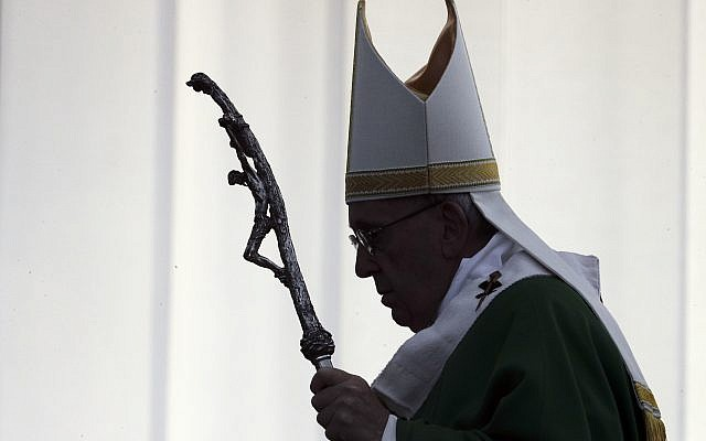 Pope Francis arrives to celebrate mass in Kaunas, Lithuani (AP Photo/Andrew Medichini)