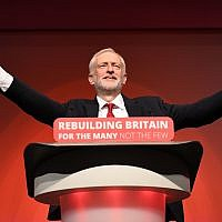 Labour leader Jeremy Corbyn giving his keynote speech at the party's annual conference .Credit: Stefan Rousseau/PA Wire