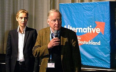 Leader of AfD Alice Weidel and Deputy Leader Alexander Gauland in April 2017