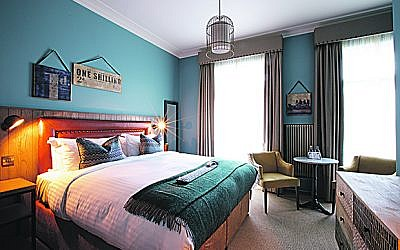 One of the stylish bedrooms at The White Horse in Dorking