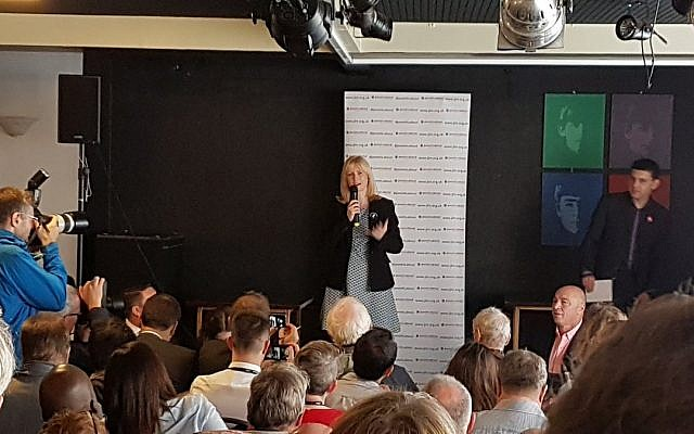 Rosie Duffield addressing the JLM rally