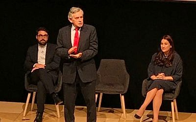 Gordon Brown speaking at the Jewish Labour Movement Conference