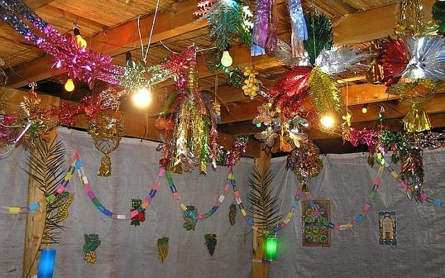 Example of a colourful Sukkah