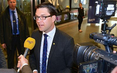 Sweden Democrats Party chairman Jimmie Åkesson