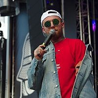 Mac Miller performing in 2017