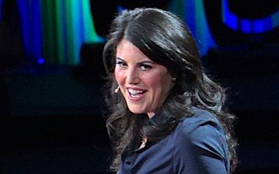 Lewinsky during her TED Talk, March 2015