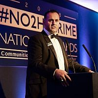 Fiyaz Mughal speaking at the No2H8 Crime Awards