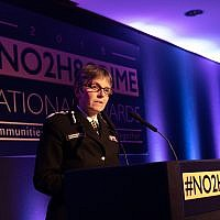 Cressida Dick, the Met Police Chief, speaking at the No2H8 awards