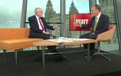 Jeremy Corbyn clashes with Andrew Marr