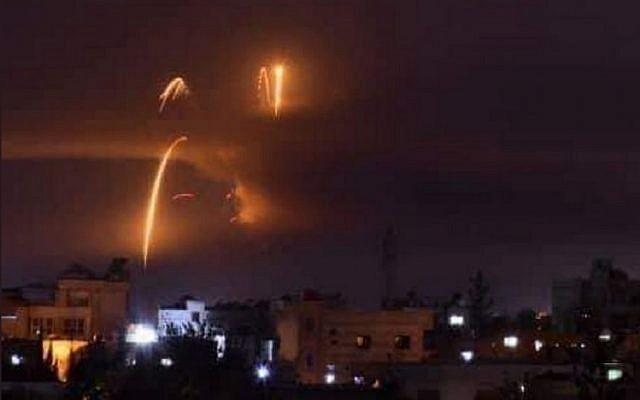 Syria has said blasts at a military airport near Damascus were not from Israeli air strikes. Picture: twitter