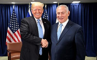 Donald Trump meeting with Bibi Netanyahu at the UN