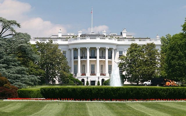 Washington D.C's famous White House building