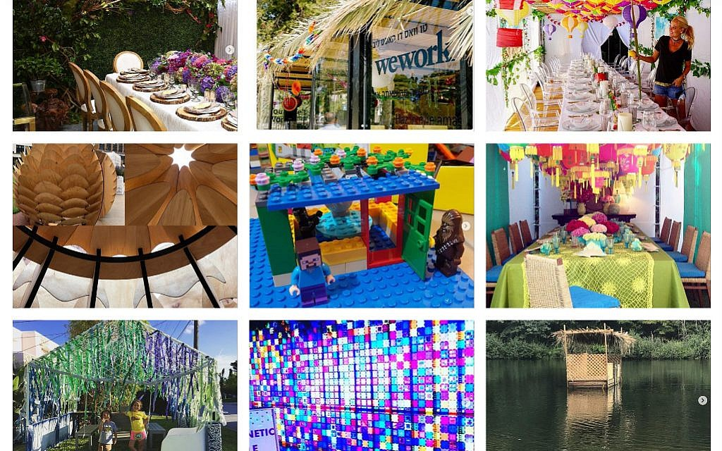 An array of the colourful and interesting huts!