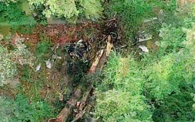 The crash scene (Screenshot from YouTube)