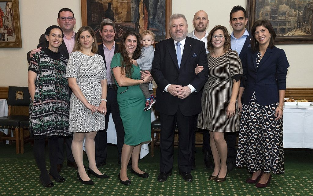 Attendees of the parliamentary event marking Rabbi Barry Marcus's retirement. credit: Graham Chweidan