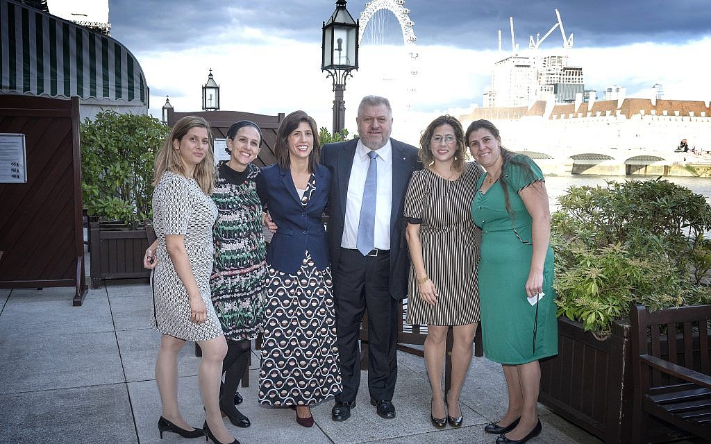 Attendees of the parliamentary event thanking Rabbi Barry Marcus. credit: Graham Chweidan