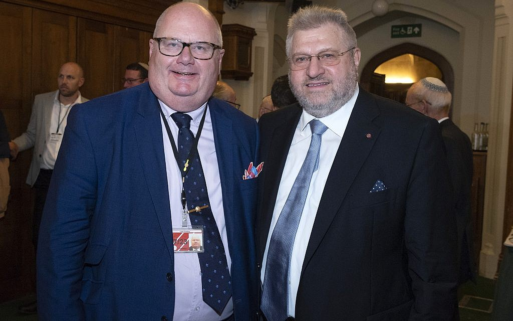 Rabbi Barry Marcus with Lord Eric Pickles   credit: Graham Chweidan
