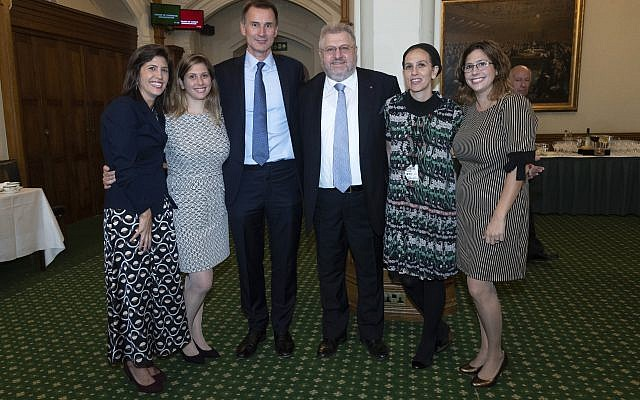 Attendees of the parliamentary event marking Rabbi Barry Marcus's retirement