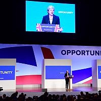 Prime Minister Theresa May delivers her keynote speech at the Conservative Party annual conference. Photo credit : Victoria Jones/PA Wire