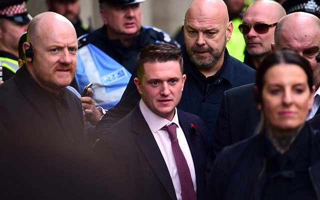 Tommy Robinson. Photo credit: David Mirzoeff/PA Wire
