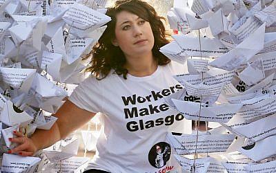 GMB Scotland branch secretary Rhea Wolfson was subject of the antisemitic article. Photo credit: Jane Barlow/PA Wire