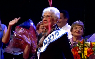 Tova Ringer is Miss Holocaust Survivor. Screenshot from New York Post