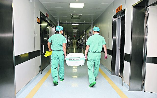 Medical staff carry donated organs (Credit: Xinhua/Huang Xin)(gxn)