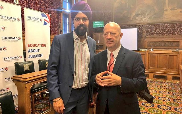 Tanmanjeet Singh Dhesi MP with Edwin Shuker