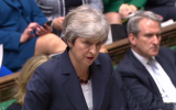 Theresa May during PMQs, responding to a question about Khan al-Amhar