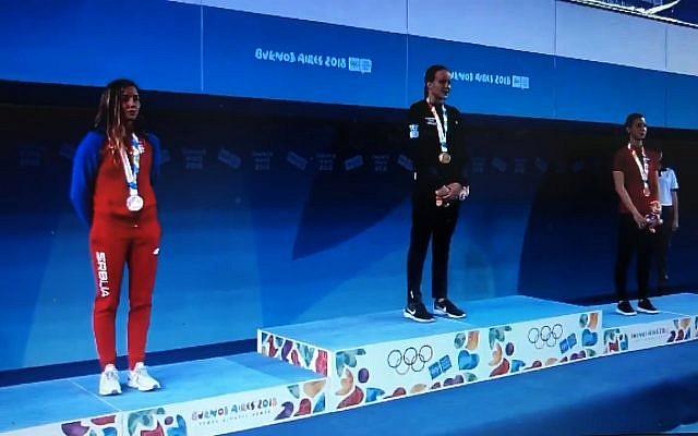 Anastasya Gorbenko winning gold