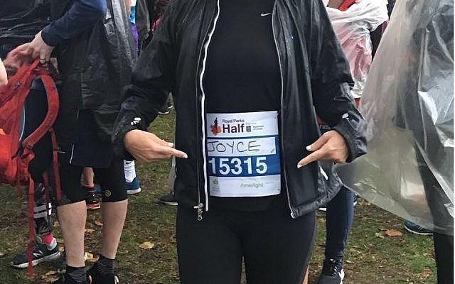 Joyce Misrahi was one of two runners for Chai