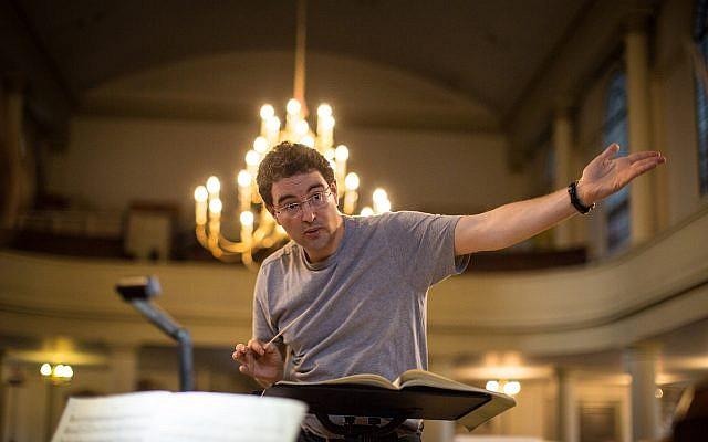 Choir rehearsal at St. John's Wood Church in London
