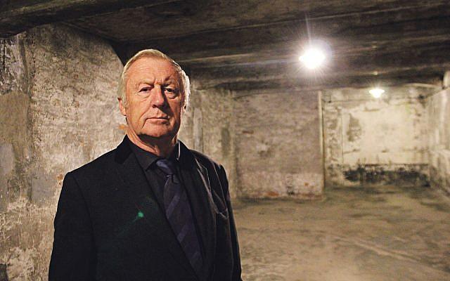 Chris inside the gas chambers in Auschwitz Birkenhau.
