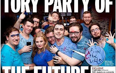 Tory students criticised by Board after being pictured on the Mirror front page
