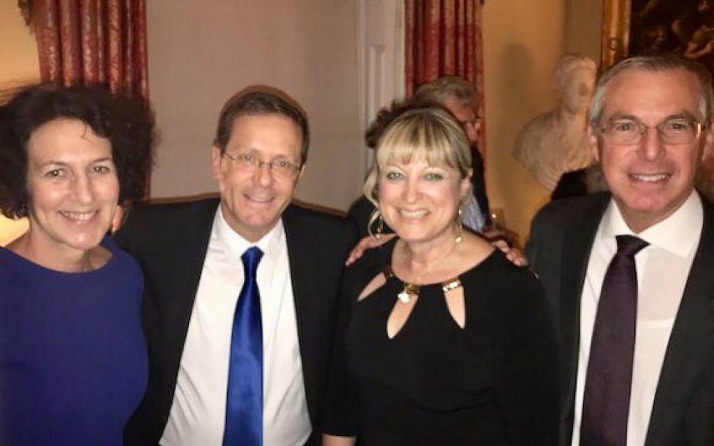 L-R: Gillian Merron, CEO of the Board of Deputies, Isaac Herzog, Jewish Agency chair, Marie van der Zyl, President of the Board of Deputies, Michael Herzog, Brigadier General