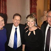L-R: Gillian Merron, CEO of the Board of Deputies, Isaac Herzog, Jewish Agency chair, Marie van der Zyl, President of the Board of Deputies, Michael Herzog, Brigadier General
