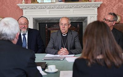 Archbishop Welby at Lambeth with Chief Rabbi Mirvis
