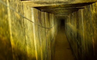 A Hamas terror tunnel stretching to Israel