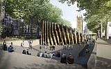 Front view of the chosen design for the Holocaust memorial.