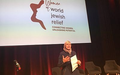 Syrian woman speaks at World Jewish Relief's event launching its new initiative for women and girls