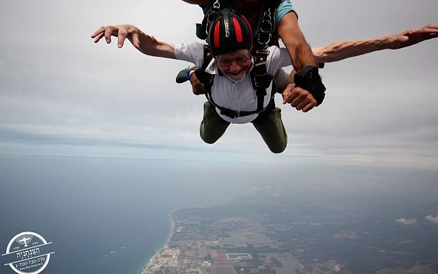 Walter Bingham skydives over northern Israel!