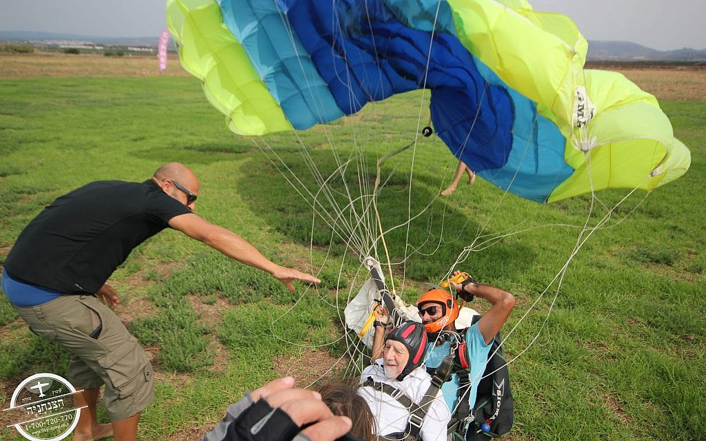 Walter Bingham concludes his skydives over northern Israel!