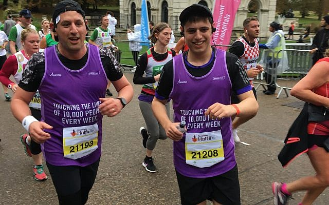 Daniel-and-Joshua-Carmel-Brown ran for Jewish Care